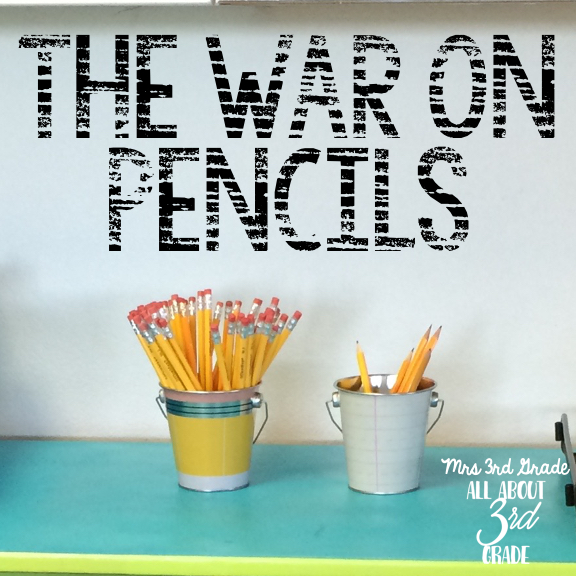 Is your pencil cup full, or empty!?  I would fill mine every other week and then all of the pencils would disappear!!  I couldn't figure out where they were going! I found a way to survive the last two weeks with only giving each student TWO pencils!