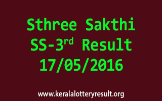 Sthree Sakthi SS 3 Lottery Result 17-5-2016