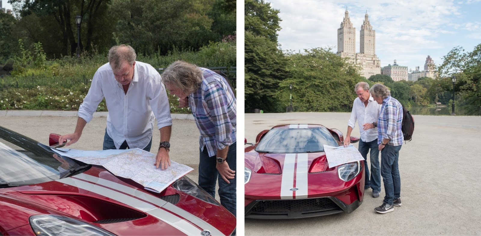 British Tv Trio Jeremy Clarkson Richard Hammond And James May Attempt To Solve This Conundrum In An Episode Of The Grand Tour