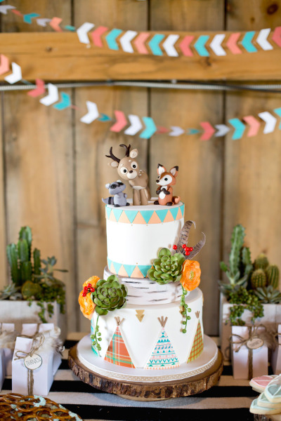 mesa decorada para festa infantil