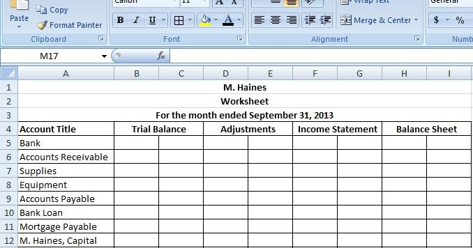 The Worksheet Classified Financial Statements Accounting An
