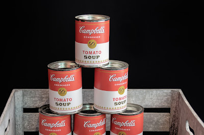Stacked Vintage Campbell's Tomato Soup Cans