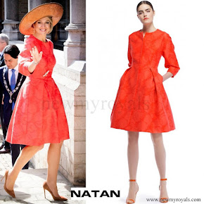 Queen Maxima wore NATAN Dress - Spring-Summer 2015