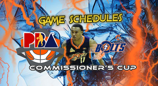 List of Meralco Bolts Game Schedules 2017 PBA Commissioner's Cup
