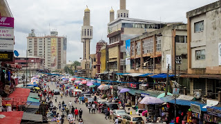 In the most busy district just behind the Idumota clock