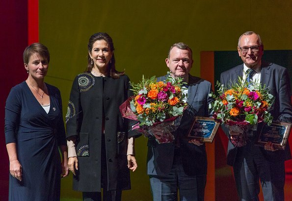 Crown Princess Mary wore YDE Coat from Spring Summer 2016. Crown Princess Mary, Prime Minister Lars Løkke Rasmussen and Bent Hansen