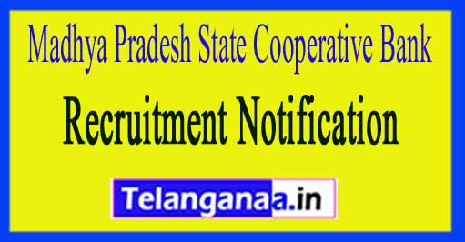 Madhya Pradesh State Cooperative Bank Apex Bank Recruitmen