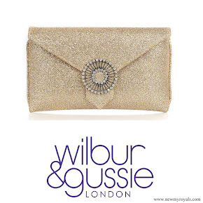 Kate Middleton carried Wilbur & Gussie-Charlie Gold Glitter Clutch