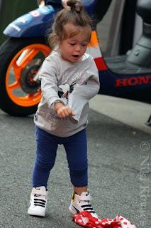 Andrea Dovizioso's daughter