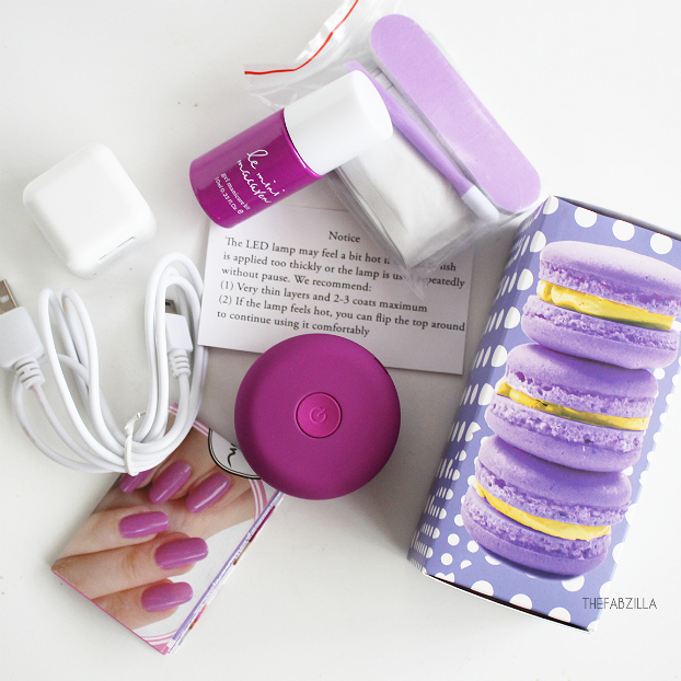 DIY gel manicure, how to use le mini macaron gel manicure kit, review le mini macaron gel manicure kit