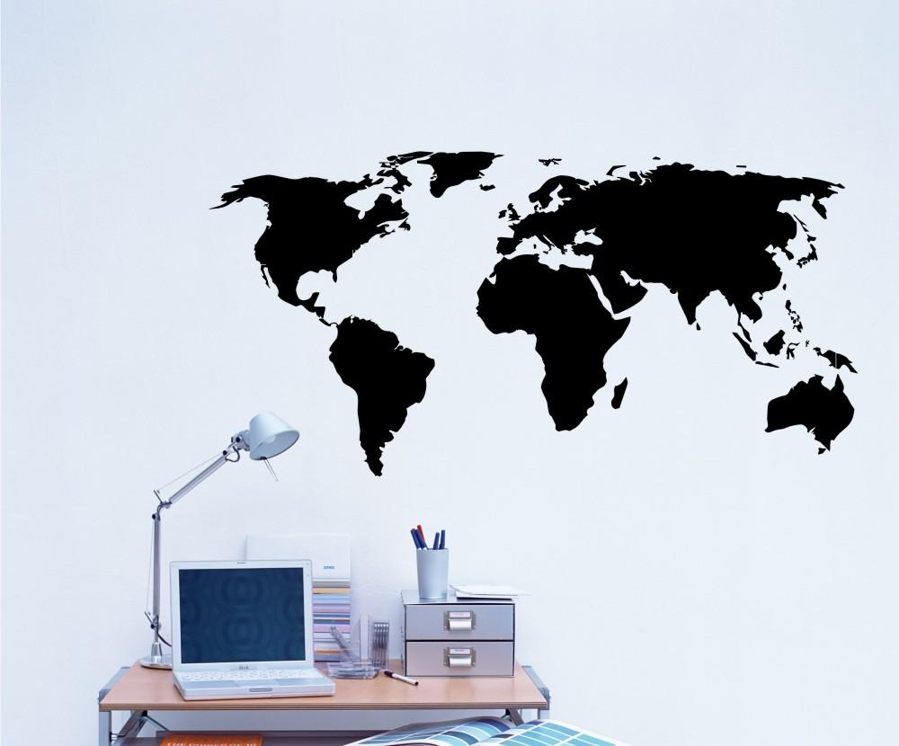 ambientes decorados com mapas adesivo de recorte - A elegância dos Mapas na decoração de Ambientes