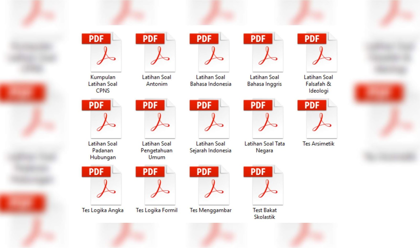 Download Kumpulan Pdf Latihan Soal Cpns Beserta Kunci Jawabannya