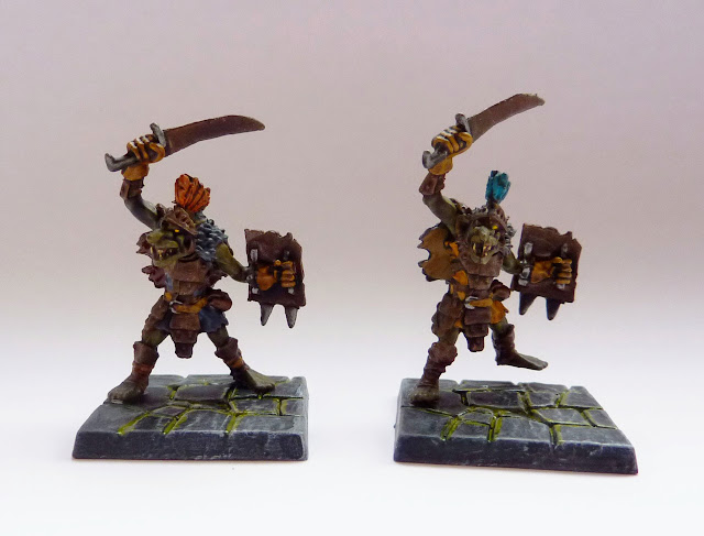 Goblin warriors - Warlord of Galahir expansion for Mantic's Dungeon Saga.