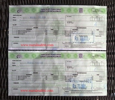 tanda bukti pembayaran surat izin mengemudi sim di satpas polres metro jaya jakarta selatan nurul sufitri blogger