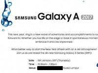 Samsung Galaxy A 2017 Diluncurkan 5 Januari 2017