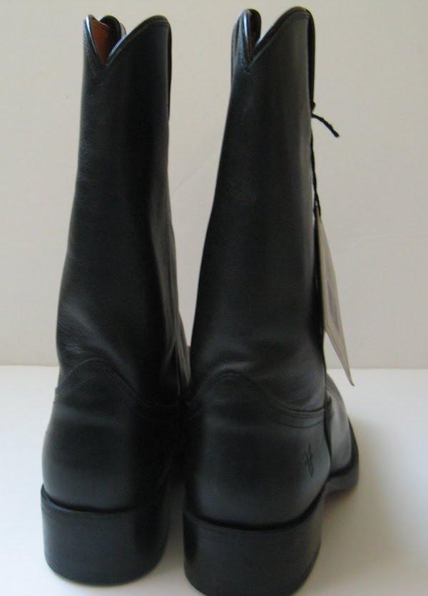 Frye Men S Cowboy Boots Roper Black Leather Cowboy Size 10 5