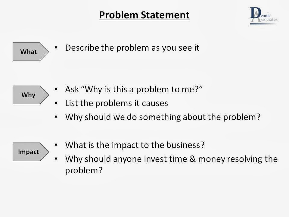 what is statement of problems in thesis writing