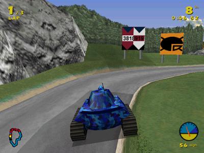 坦克賽車(Tank Racer),橫衝直撞還可以攻擊對手的賽車遊戲!