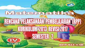 Rpp Matematika Kelas 4 SD Semester 2 Kurikulum 2013 Revisi 2017