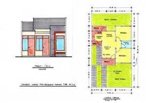 gambar denah rumah mewah satu lantai 1