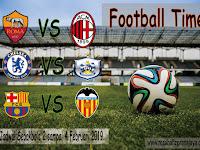 Jadwal Sepakbola 2 - 4 Februari 2019