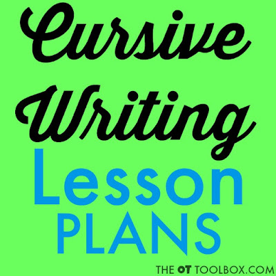Cursive writing lesson plan for how to teach cursive writing to kids including movement, activities, letter instruction tips, and handwriting ideas.