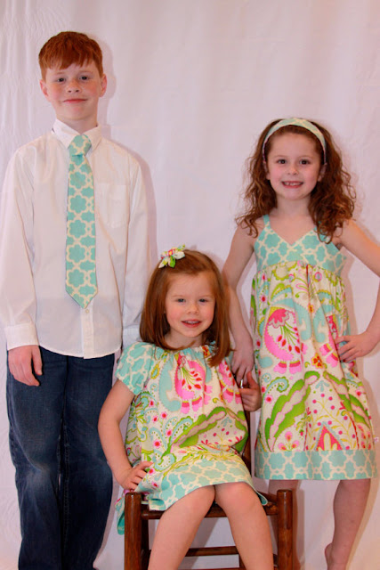 Coordinated Easter outfits for siblings