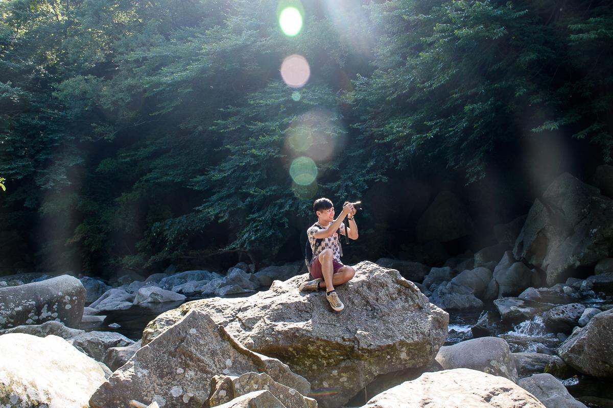 Cheonjeyeon waterfall jeonbang waterfall, junsangjeolli cliff
