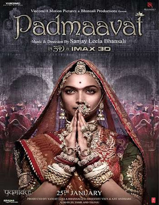 Poster Of Bollywood Movie Padmaavat 2018 300MB Pdvd Full Hindi Movie