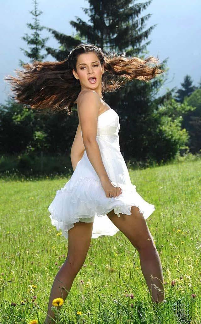 Kangna Ranaut hot thighs, Kangna Ranaut sexy legs, Kangna Ranaut hot legs, Kangna Ranaut in white dress, Kangna Ranaut hot sexy back