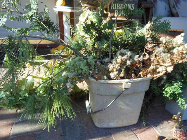 Christmas i ll add fresh greens here and there thus the bucket