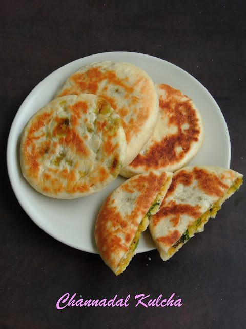 Channadal Stuffed Kulcha, dal kulcha