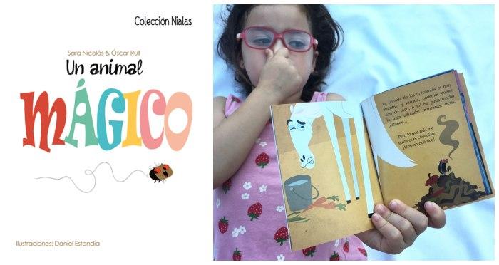 mini libros cuentos pequeño snacks tragamanzanas Un animal mágico