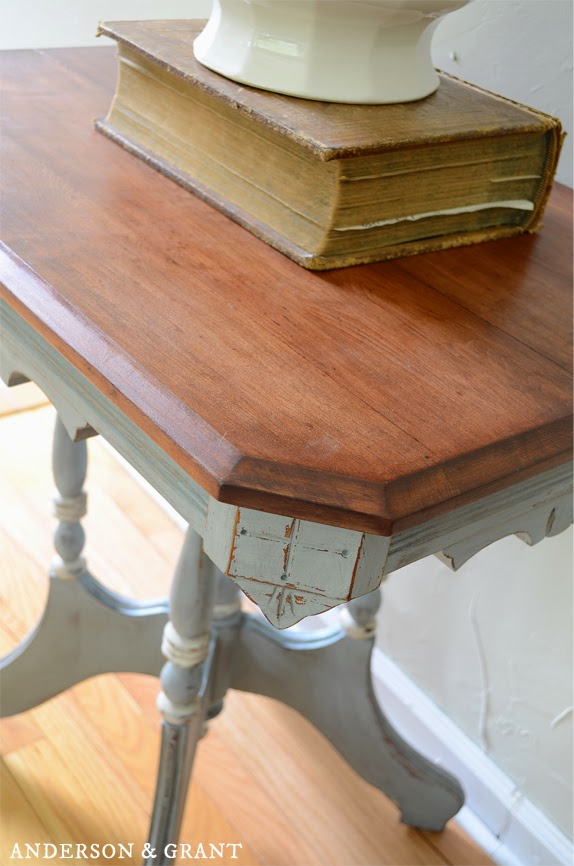 Antique Table Painted with Chalk Paint | www.andersonandgrant.com