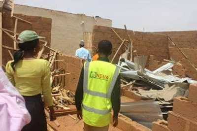 In Maiyama, Kebbi State: 800 Houses And Alot of Properties Were Destroyed By Rainstorm