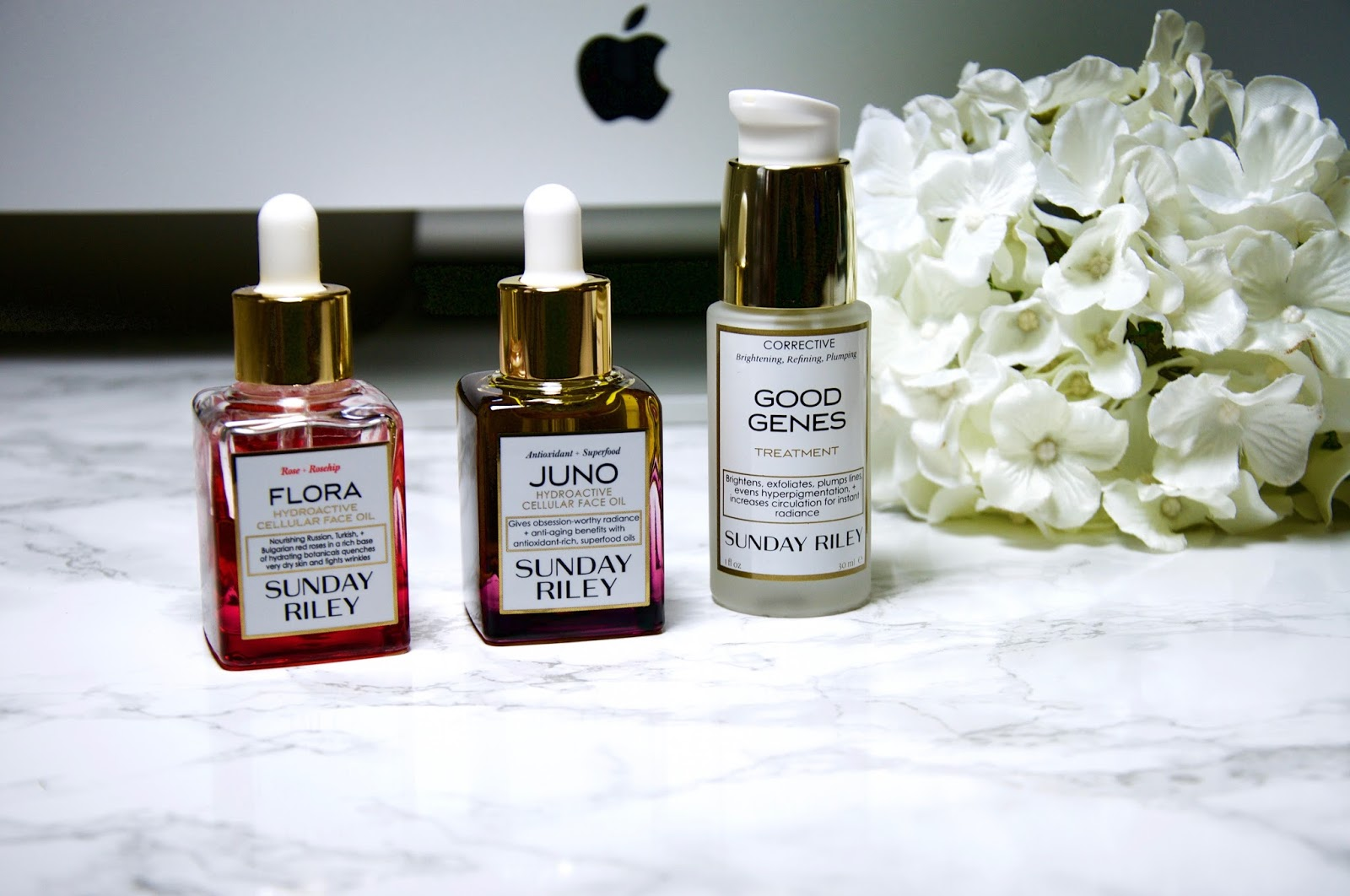 sunday riley ,sunday riled good genes treatment review, sunday riley flora hydroactive cellular face oil, sunday riley juno hydroactive cellular face oil review
