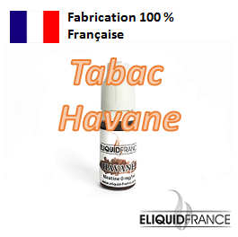 E-Liquide Tabac Havane ELIQUID FRANCE 100 % Français sur Top Cigarette Electronique