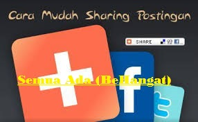 Cara Memasang Tombol Share Pinterest, Facebook, Twitter Melayang Di Blogger