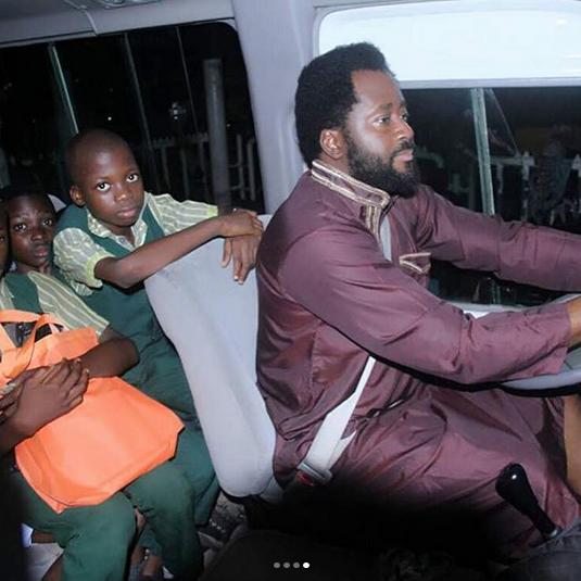desmond-elliot-drives-surulere-children-to-school