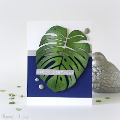 Monstera  masculine birthday card