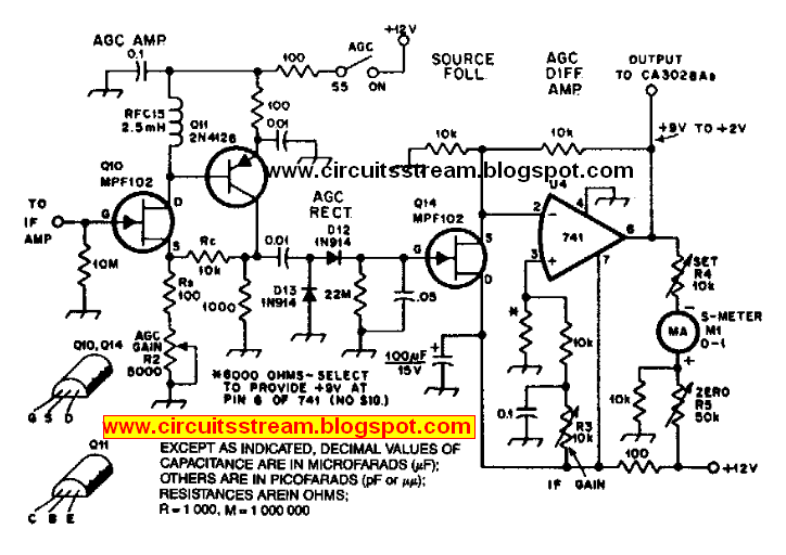 Build a Agc System For Ca3028 Rf Amplifier Circuit Diagram