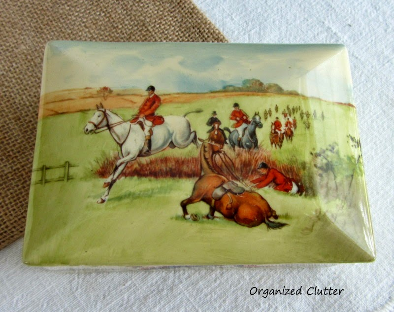 Royal Doulton Fox Hunt Box, English Country Style www.organizedclutterqueen.blogspot.com