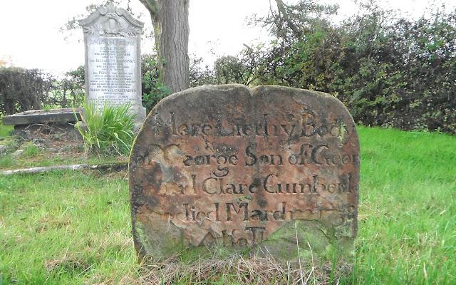 Gravestone in Rushton churchyard