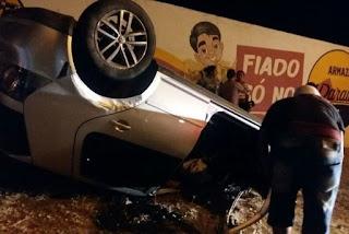 Disputa de racha termina com capotamento de veículos no Sertão
