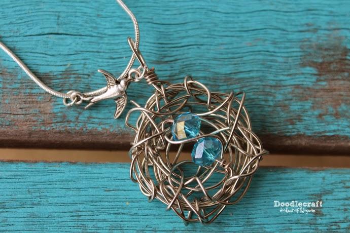 Doodlecraft: Bird Nest Wire Wrapped Necklace!