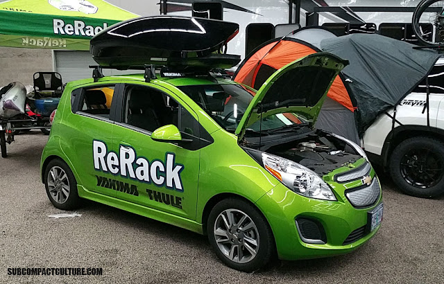 Chevrolet Spark EV with roof rack - SUBCOMPACT CULTURE