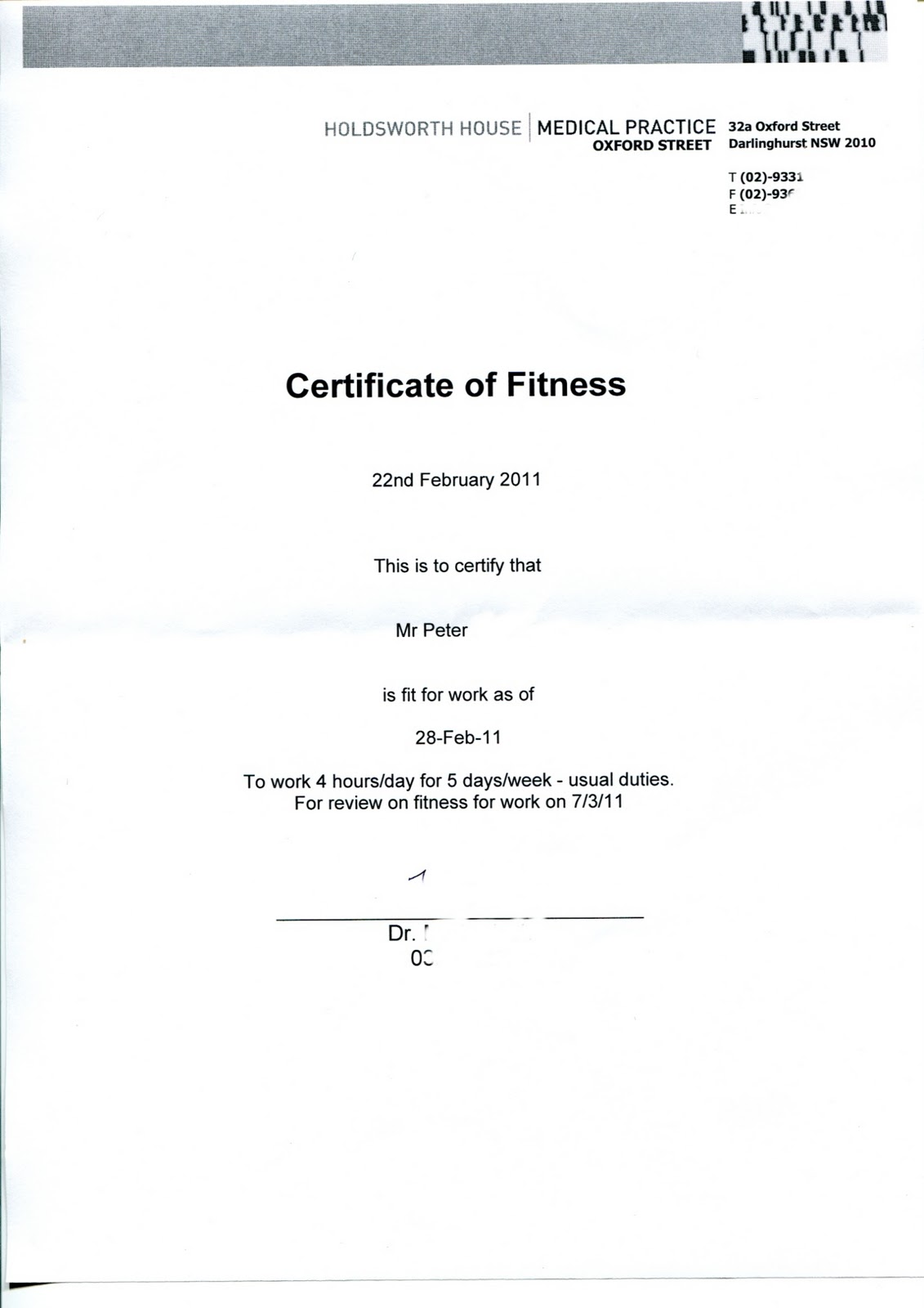 Life With Hiv Certificate Of Fitness For Work