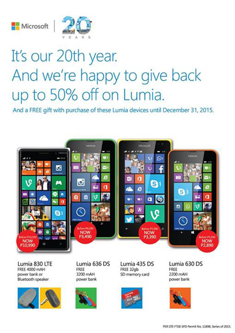 Microsoft Phiilippines Downs The Price Of Several Lumia Devices Up To 50% Of!!