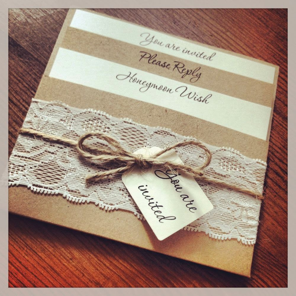 Invitation Ideas For Wedding: Vintage Lace Wedding Invitations