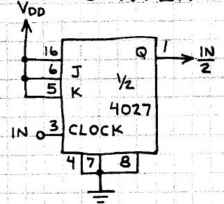 Electronic Circuits for Beginners: Divide By 2 Counter